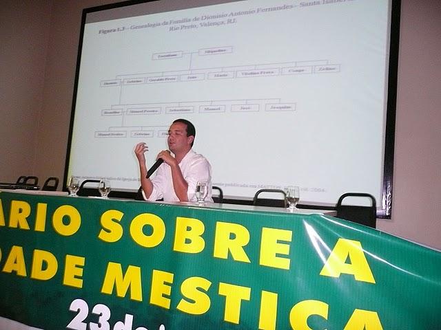 IV Seminário Sobre a Identidade Mestiça - palestra de Carlos Eduardo Coutinho, MSc.