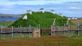 O local arqueológico dos vikings no Canadá fica na Terra Nova (DR)