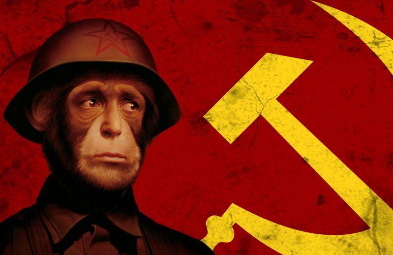 Homem-macaco comunista.