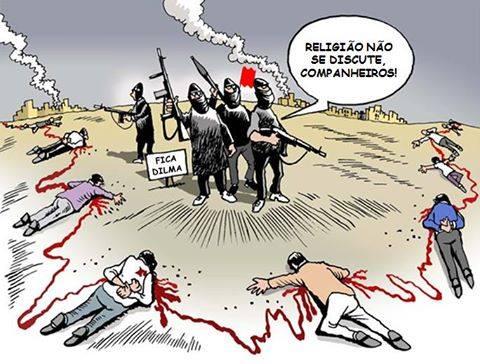 Resultado de imagem para O estado Islâmico: charges
