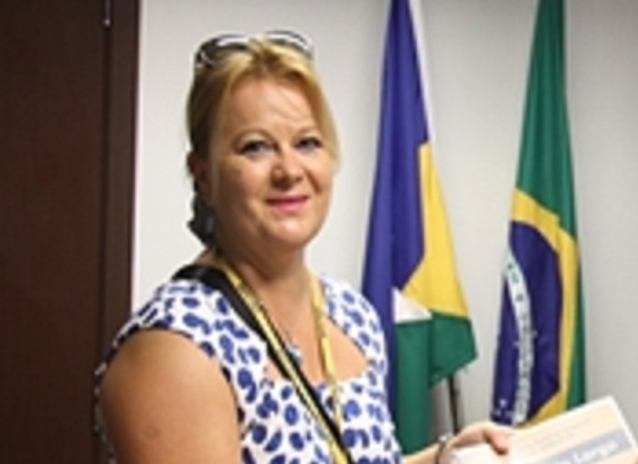 The consul and ambassador of Poland in Brazil, Katarzyna Anna Braiter.