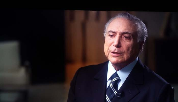 São Paulo- SP- Brasil- 15/05/2016- O presidente interino Michel Temer, durante entrevista para o programa Fantástico, da rede Globo. Foto: Reproducão